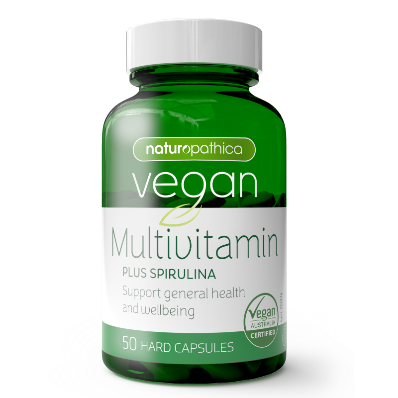 Naturopathica Vegan Multi Vitamin Plus Spirulina 50s