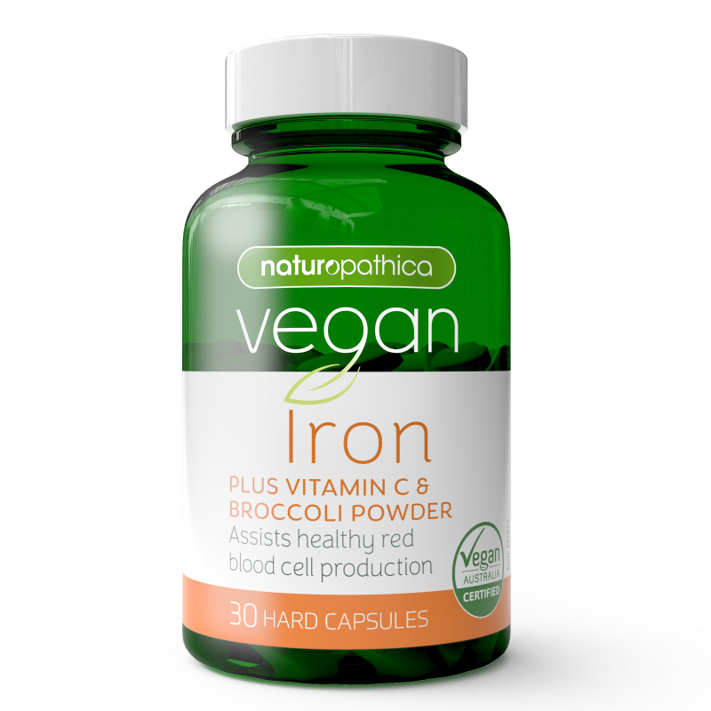Naturopathica Vegan Iron Plus Vitamin C & Broccoli Powder 30s