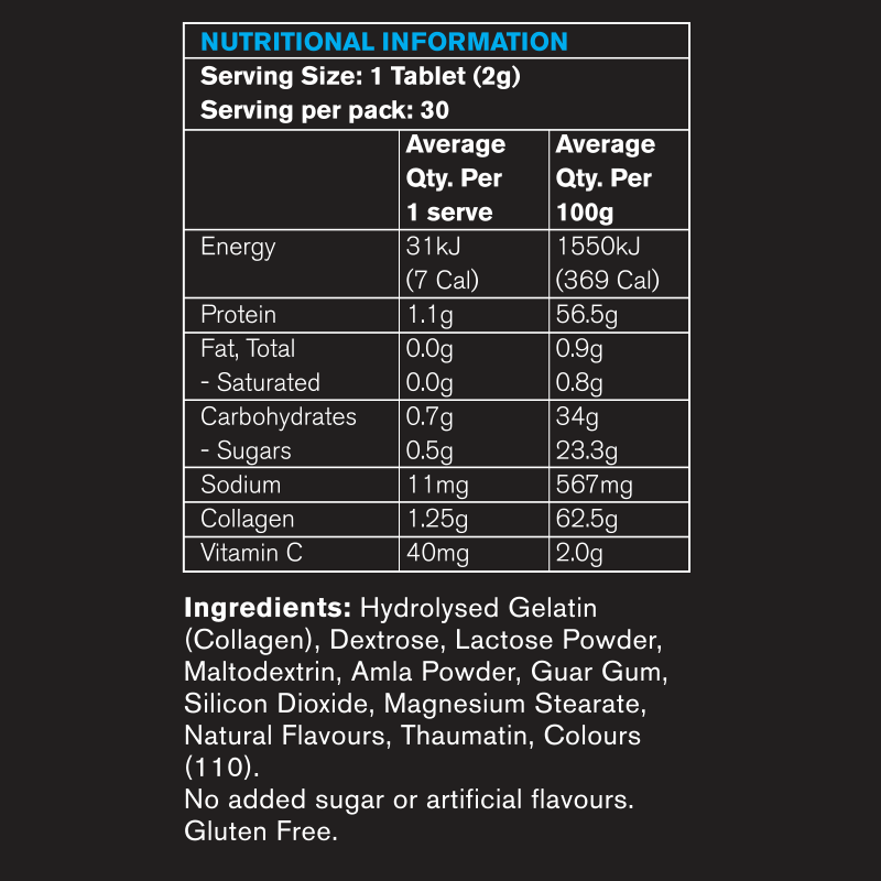 collagenix-joints-nutritional-information